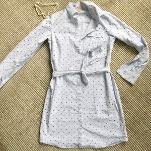 Brooks Brothers polka-dot seersucker button dress